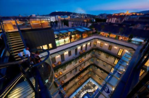 Our Panorama Terraces offer breathtaking views of Budapest.