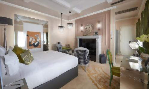 Benny Goodman inspired Luxury Room with 1 King Bed and Music Garden Balcony View located in the Jazz Wing.
