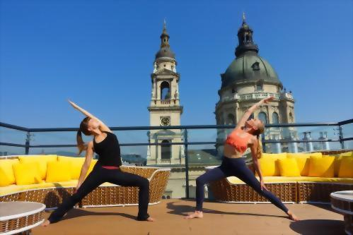 Guests can enjoy level yoga flow private lessons which during the warm days can be practiced on the High Note SkyBar Panorama Terraces with the amazing view of St. Stephen's Basilica.