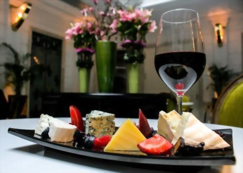 Wine and cheese is complimentary served from 4pm to 6pm daily.