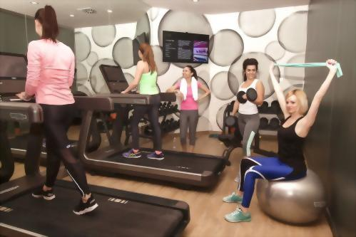 Ultra-modern facilities include Artis Cardio Machines with treadmill, elliptical, bicycle from Technogym, Kinesis Wellness Ball and free weights.